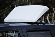 Rv Towing Vehicle Truck Air Deflector, 56w X 22h, White, Incl.mounting Hooks