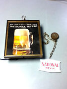 National Beer Sign Vintage Lighted Wall Light Box Graphic Hanging Natty Boh Kq4