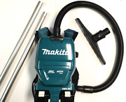 Makita Xcv09 Battery Backpack Vacuum, 4 Batteries And Charger, Sidewinder Upgrade