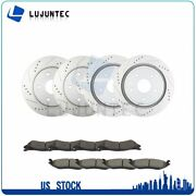 Front And Rear Discs Brake Rotors And Ceramic Pads For Dodge Ram 1500 2002-2005