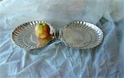 Birks Sterling Silver Antique Georgian Style Shell Shaped Tray Dish Bowl 965 Gr