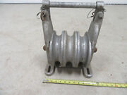 6 Sherman Reilly 3 Stringing Sheave Cable Block Pulley Snatch Lineman Tool
