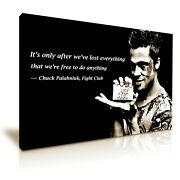Fight Club Movie Brad Pitt Quote Canvas Modern Home Art 5 Size To Choose