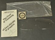 Vtg New Nos National Hydron Mxl Scratch Resistant Motorcycle Goggle Lens As Is
