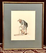 Antique Vintage Chinese Ocupational Hand Colored Engraving 1799 Miller London