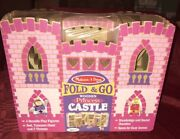 Melissa Doug Fold And Go Wooden Princess Castle With Figures And Furniture New