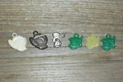 Vintage Disney Gumball Charms Trinkets 6 - Peter Pan Mouse Parrot