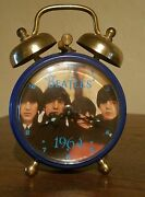 🎸 Extremely Rare 1964 Beatles Small Alarm Clock West Germany Works Wind Up