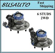 Front Wheel Hub Bearing Assembly Fit Chevy Colorado 2wdexc.z71 And Z85 04-08 Pair