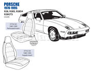 For Porsche 928 7in Bolster Front Leather Seat Cover Set 1985-95 Oem New