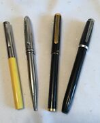 4 Vintage Pens Marquis Aandw, Sheaffer Fountain, Jcpenny Annv 95, Aw Faber Pencil