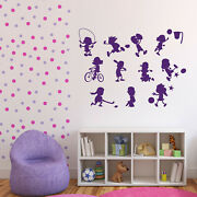 Wall Vinyl Decal Sticker Set Of Funny Signs Kids Sports Decor N1097