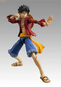 One Piece Monkey D Luffy Action Figure Megahouse Mh Vah Model Toys New