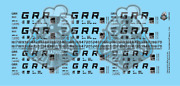 Georgetown Railroad Gunderson/thrall Hopper Solid N Scale Decal Set