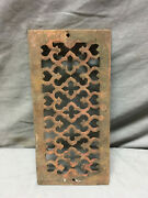 1 Antique Cast Iron Fireplace Grill Grates 4x9 Wall Ceiling Vent Old Vtg 438-19l