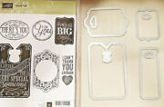 Stampin Up Chalk Talk 6 Clear Mount Stamps And Edgelits Scrapbook Card Making