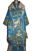 Orthodox Bishop Vestment Blue Embroidered Lightweight To Order Your Size