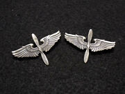 Wwii Us Army Aviation Cadet Sterling 2 Insignia Set