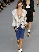 2006 Embroidered Camellia Ruffle Bell Sleeve Silk Jacket
