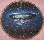 Star Trek Collector Plate The Voyagers Starship Enterprise Ncc-1701d New W/coa