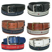 Menand039s 11tl02x032 Anchor Logo Ribbon Inlay Leather Belt