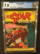 All Star Comics 28 Comic Book Cgc 7.0 Dc 1946 Golden Age 10 Cent Gardner Fox