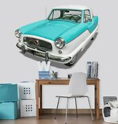 3d Nash O02 Car Wallpaper Mural Poster Transport Wall Stickers Amy