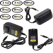 Ac 100-240v To Dc 12v 2a Charger Power Supply Adapter 5.5x2.1mm Lot Wholesal Usa