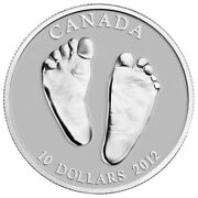 2012 Canada 10 Welcome To The World Baby Feet Pure Silver Coin W All Packaging