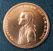 Us Thomas Jefferson Indian Peace Medal 34mm