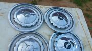 Vintage 1957 Chevy Bel Air 210 Hubcaps Wheel Covers 14andrdquo Classic H28
