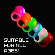 Lumistick Led Jelly Ring Soft Silicone Light Up Glowing Bright Color Finger Ring