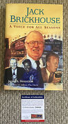 Jack Brickhouse Signed A Voice For All Seasons Book Chicago Cubs Hey Hey Psa/dna