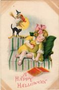 Halloween Postcard, Published By Wolf And Co. Artist Ellen Clapsaddle, Series 1901
