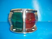 Vintage Attwood 6350-02 Bow Light Split Red/green Combohousing W/ Flagpole Hole