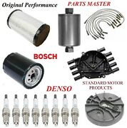 Tune Up Kit Air Oil Fuel Filters Wire Plugs For Chevy K3500 V8 7.4l 4wd 96-98