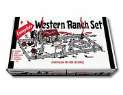Marx Complete Western Ranch Play Set Box