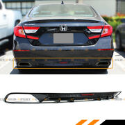 For 2018-2020 Honda Accord Sport Touring Glossy Blk Rear Bumper Diffuser Valance
