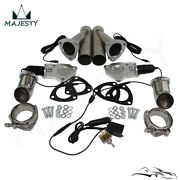 2.25 Dual Exhaust Catback Downpipe Cutout E-cut Valve System Switch Control Kit