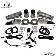 2.5 Dual Exhaust Catback Downpipe Cutout Valve System + Electric Control Kit