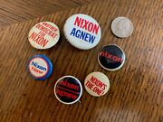 assorted Richard Dick Nixon Vintage Antique Presidential Campaign Pin Buttons