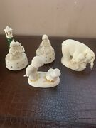 Lot Of 4. Dept 56 Snowbabies 'snuggle Up' See You Next Year