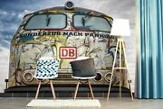 3d Locomotive O486 Transport Wallpaper Mural Self-adhesive Removable Amy