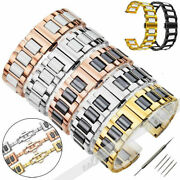 Ceramics Stainless Steel Metal Watch Band Strap Bracelet Replacement 20/22mm New