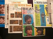Vintage Lot Of Beatles Magazines And Books