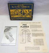 Vintage American Flyer Pike Planning Kit 731 Layout Tool S +insert +instructions