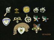 Collection Of Masonic Mason And Order Of Eastern Star Jewelry Tie Pins Earrings