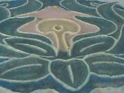 Antique Rookwood Pottery Architrctural Tile Arts And Crafts Flower Very Rare