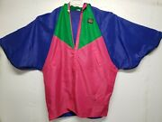 Vtg 80's Hell Is For Heroes Colorblock Anorak Ski Jacket Made In Italy Rare
