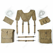 Wwii Ww2 Us Army Combat Medic Field Pouch Pocket Harness Kit Suspenders Full Set